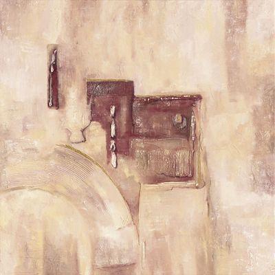 A. Hecht: Bordeauxfarbene Pracht I - Abstrakt - Original auf Leinwand 100 x 100 cm