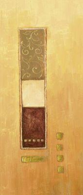 A. Hecht: Wechselnde Anordnung I - Original auf Leinwand 70 x 30 cm