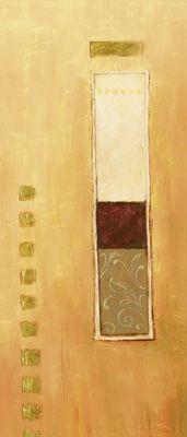 A. Hecht: Wechselnde Anordnung III - Original auf Leinwand 70 x 30 cm