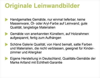 A. S.: Rötlich-braune Calla I - Original auf Leinwand 70 x 30 cm