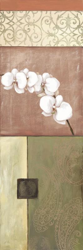 A. S.: Naturfarbene Orchidee I - Original auf Leinwand 90 x 30 cm