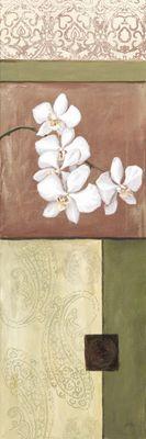 A. S.: Naturfarbene Orchidee II - Original auf Leinwand 90 x 30 cm