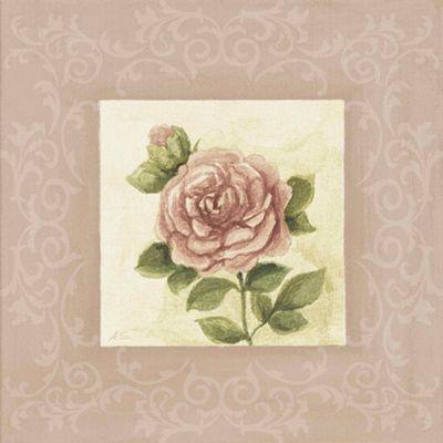 A. S.: Rose I - Original auf Leinwand 35 x 35 cm