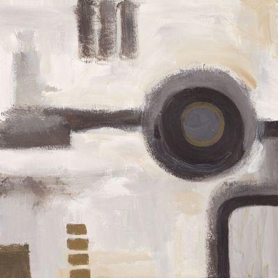Anton Maller: Schwarzes Loch I - Abstrakt - Original auf Leinwand 40 x 40 cm