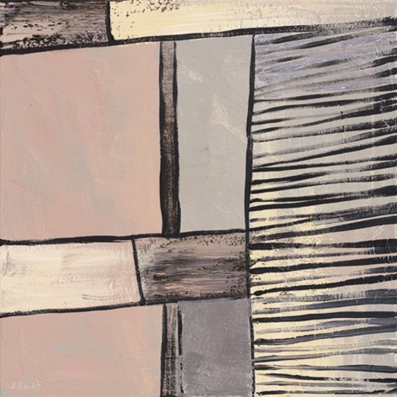 Anton Maller: Verbindung II - Abstrakt - Original auf Leinwand 40 x 40 cm