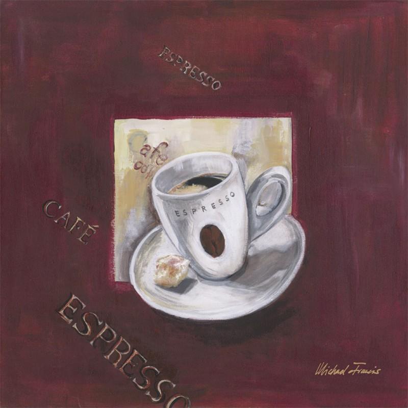 Michael Francis: Kaffee IV - Original auf Leinwand 50 x 50 cm