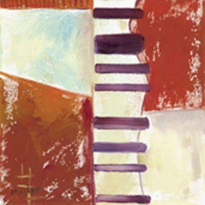 Anton Maller: Abstrakt XI - Original auf Leinwand 30 x 30 cm