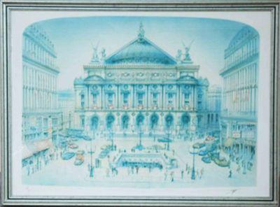 GK: Die Oper - Original, gerahmt mit Passepartout 60 x 81 cm