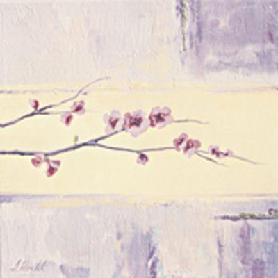 A. S.: Kirschblütenzweig III - Original auf Leinwand 30 x 30 cm