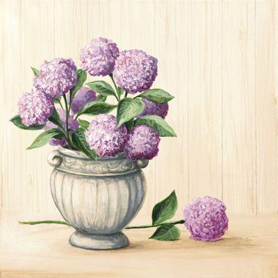 A. S.: Klassisches Arrangement - Original auf Leinwand 50 x 50 cm