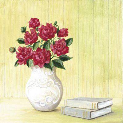 A. S.: Hübsches Bouquet - Original auf Leinwand 50 x 50 cm