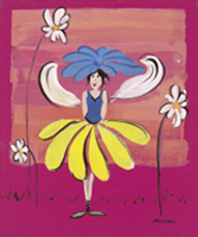 Marie Lou: Feenkinder I - Original auf Leinwand 60 x 50 cm