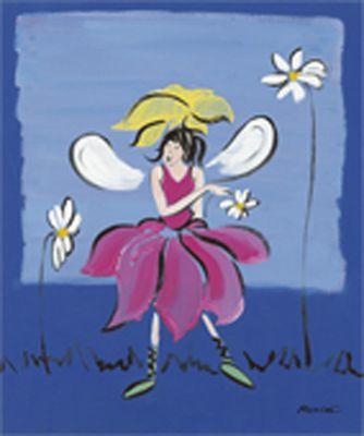 Marie Lou: Feenkinder II - Original auf Leinwand 60 x 50 cm