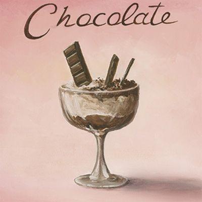 A. S.: Schokolade - Original auf Leinwand 30 x 30 cm