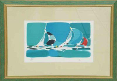 GK: ohne Titel - Original, gerahmt mit Passepartout 51 x 60 cm