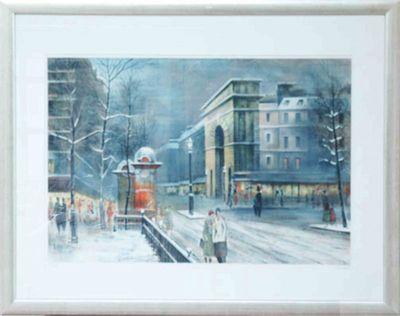 Antonio Rivera: Paris - Original, gerahmt mit Passepartout 69 x 88 cm