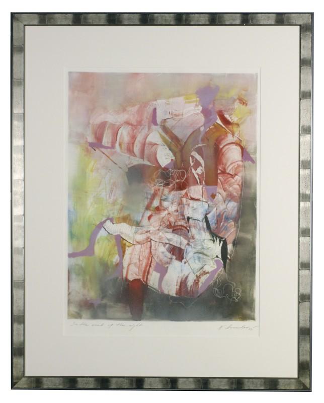 Nikolai Arnaudov: In the heat of the night - Original, gerahmt mit Passepartout 97 x 77,5 cm