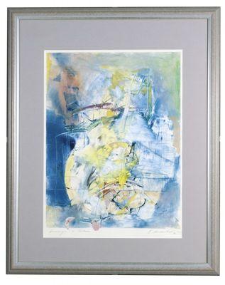 Nikolai Arnaudov: Hommage à Costeau - Original, gerahmt mit Passepartout 97 x 77 cm