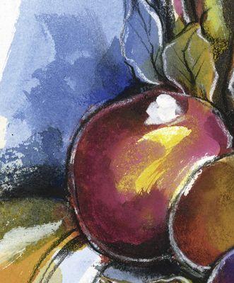 Rüdiger Brassel: ohne Titel - Aquarell, gerahmt mit Passepartout 54 x 44,5 cm