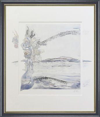 Hugo U. Meyer: ohne Titel - Original, gerahmt mit Passepartout 72,8 x 62,8 cm