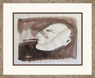Karl von Monschau: ohne Titel - Aquarell, gerahmt mit Passepartout 91 x 109 cm
