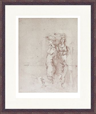 Jürgen Görg: Gegenüberstellung I - Original, gerahmt mit Passepartout 77,1 x 63,1 cm