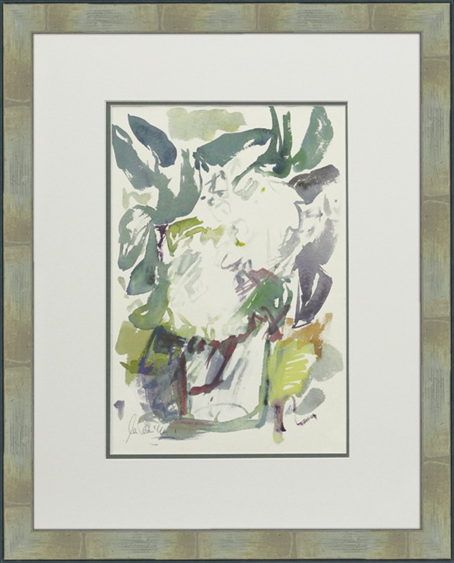 Erika Rauschning: ohne Titel - Aquarell, gerahmt mit Passepartout 66,8 x 55 cm