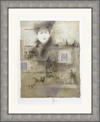 Alain Kleinmann: ohne Titel - Original, gerahmt mit Passepartout 120 x 95 cm