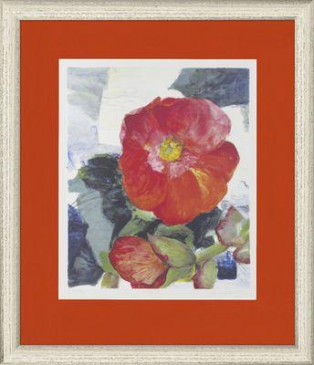 Gerda Nietzer: Begonie - Original, gerahmt mit Passepartout 68,8 x 58,4 cm