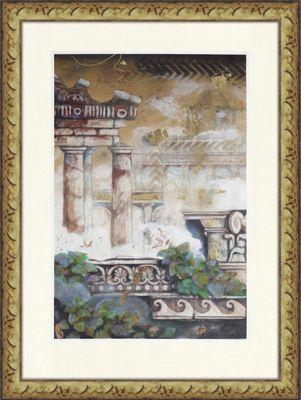 Robert Hoglund: Gartendrama A #3 - Original, gerahmt mit Passepartout 127 x 95 cm