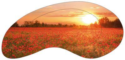 Alberto Zornetta: Mohnblumenfeld bei Sonnenuntergang - Bild mit Modellrahmen 55,4 x 110,4 cm