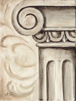 A. S.: Ornamente VI - Original auf Leinwand 24 x 18 cm