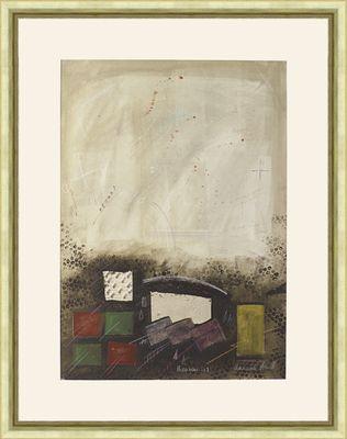 Annabel Heurth: Theorom 117 - Original, gerahmt 101,4 x 79,4 cm