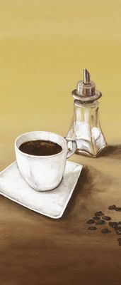 A. S.: Kaffee - Original auf Leinwand 70 x 30 cm
