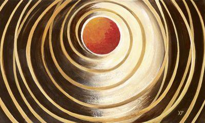 Xenia Frolova: Figures in univers - Original auf Leinwand 60 x 100 cm