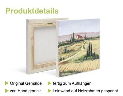 A. Hecht: Calla - beige I - Original in Mischtechnik 100 x 40 cm
