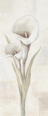 A. Hecht: Calla - beige II - Original in Mischtechnik 100 x 40 cm