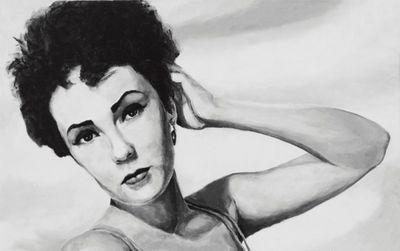 A. Hecht: Starbild - Original auf Leinwand 50 x 80 cm