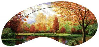 A. S.: Herbst am See - Designerrahmen, Bild mit Motivrahmen - Modellrahmen 59,4 x 114,4 cm
