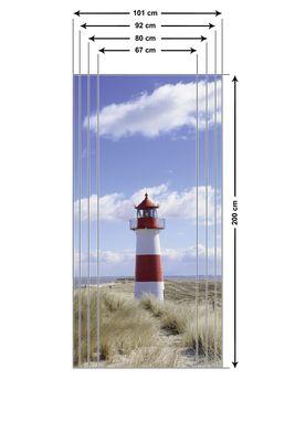 fotopro: Leuchtturm Sylt - Türbild, selbstklebend