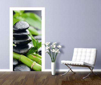 Pavel Timofeer: Wachstum - Lavasteine Bambus - Türbild, selbstklebend