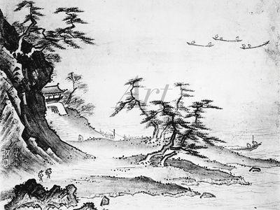 Shokei (Keishoki): Landschaft in Japan - Leinwandbild - Poster
