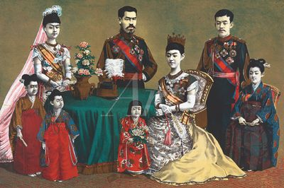Torajiro Kasai: Japanische Imperial-Familie - Leinwandbild - Poster