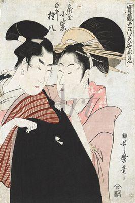Utamaro Kitagawa: Shirai Gonpachi - Leinwandbild - Poster