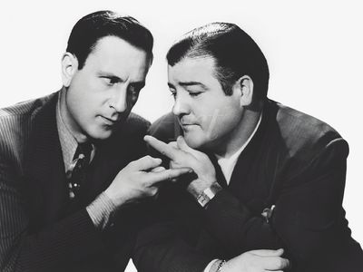 Filmszene: Abbott und Costello - Leinwandbild - Poster