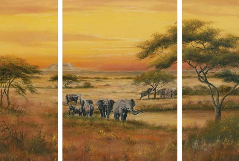 A. Heins: Afrika - Wandbild, mehrteilig 69,5 x 98,5 cm