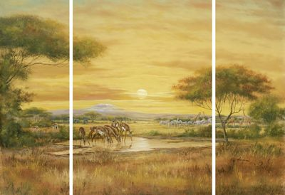 A. Heins: Afrikanische Steppe - Wandbild, mehrteilig 69 x 99 cm