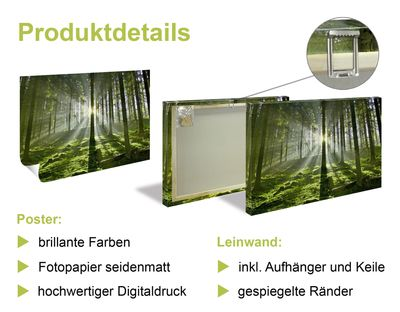 Andrea Haase: Gartenglück - Leinwandbild - Poster