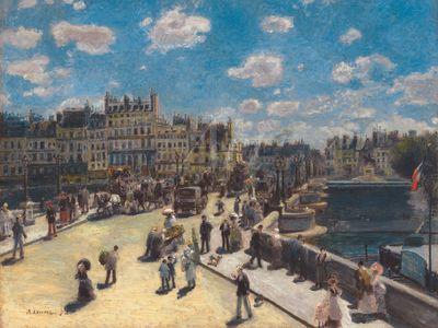 Pierre-Auguste Renoir: Pont Neuf, Paris - Leinwandbild - Poster