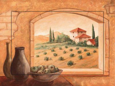 Andres: Toskana - Bild mit Modellrahmen 59,9 x 80,9 cm